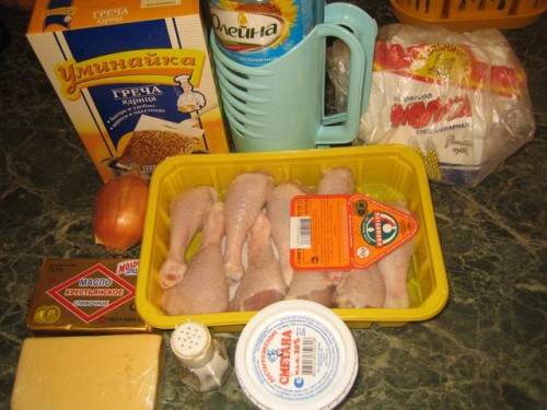 Готовим полезное и вкусное блюдо – куриные ножки с гречкой в мультиварке