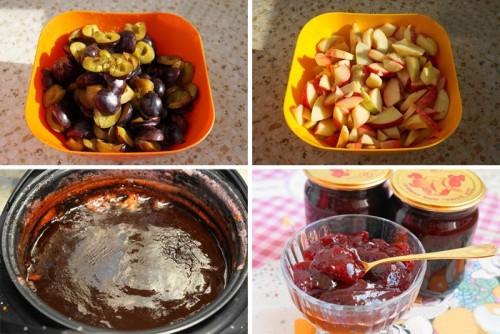 Варенье из сливы и яблок в мультиварке